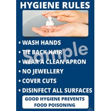 Hygiene Rules Poster