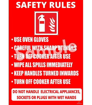 Safety Rules Poster