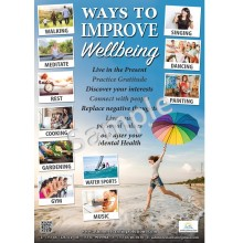 Ways to improve wellbeing poster