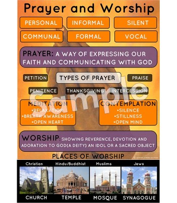 Prayer and Worship Poster